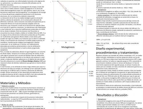 [FMED] Eficacia biológica relativa de rX y electrones de diferentes energías en organismos unicelulares eucariotas.