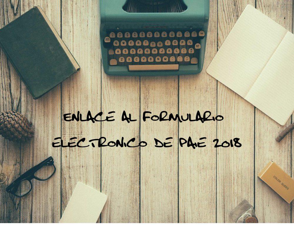 ENLACE AL FORMULARIO ELECTRONICO PAIE 2018: https://formularios.csic.edu.uy/paie2018/