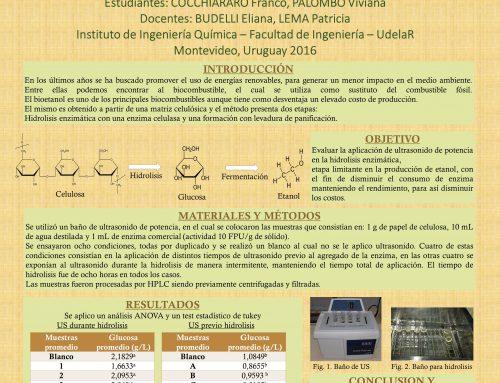 Evaluación del uso de ultrasonido en la producción de etanol