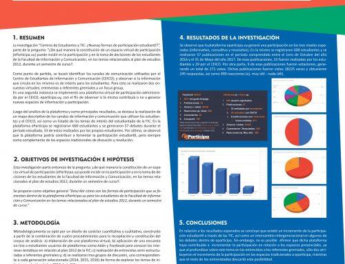 Centros de Estudiantes y TIC:  «¿Nuevas formas de participación estudiantil?»