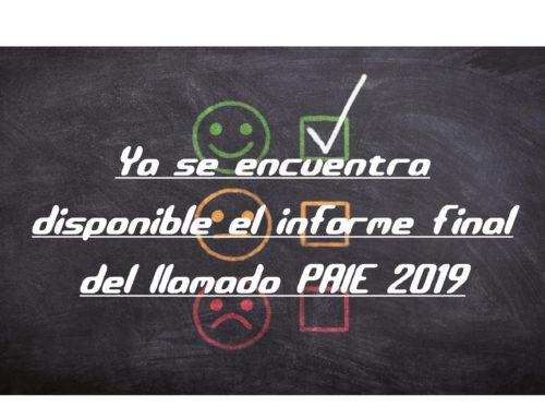 INFORME DE PROYECTOS FINANCIADOS EN PAIE 2019